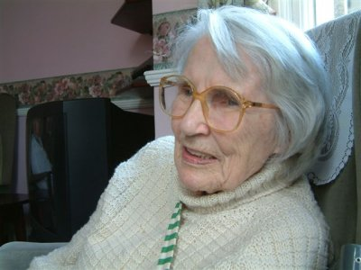 Celia Fremlin, 91.         Photo by Maria Fremlin, 20 January 2006.